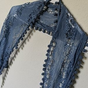 Boho Scarf with Lace detail